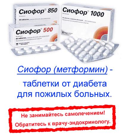 Препараты от диабета для пожилых